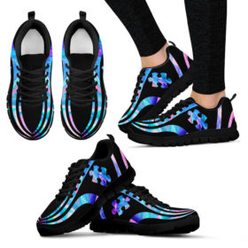 Autism Puzzle Sneakers, Running Shoes, Shoes For Womens, Mens, Custom Shoes, Low Top Shoes, Customized Sneaker